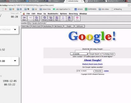Oldweb Today - Com'era il tuo sito web negli anni 90?